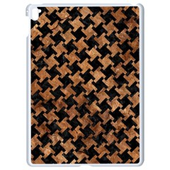 Houndstooth2 Black Marble & Brown Stone Apple Ipad Pro 9 7   White Seamless Case