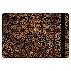 Damask2 Black Marble & Brown Stone Apple Ipad Air Flip Case