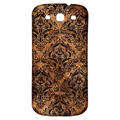 Damask1 Black Marble & Brown Stone (r) Samsung Galaxy S3 S Iii Classic Hardshell Back Case