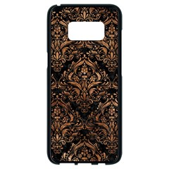 Damask1 Black Marble & Brown Stone Samsung Galaxy S8 Black Seamless Case