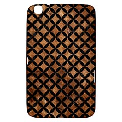 Circles3 Black Marble & Brown Stone (r) Samsung Galaxy Tab 3 (8 ) T3100 Hardshell Case