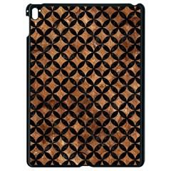 Circles3 Black Marble & Brown Stone (r) Apple Ipad Pro 9 7   Black Seamless Case