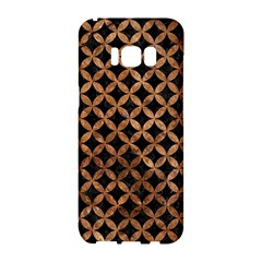 Circles3 Black Marble & Brown Stone Samsung Galaxy S8 Hardshell Case