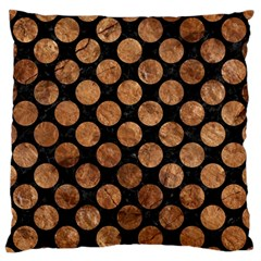 Circles2 Black Marble & Brown Stone Standard Flano Cushion Case (one Side)