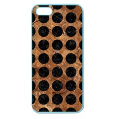 Circles1 Black Marble & Brown Stone (r) Apple Seamless Iphone 5 Case (color)