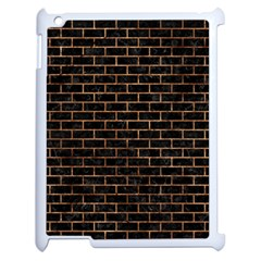 Brick1 Black Marble & Brown Stone Apple Ipad 2 Case (white)