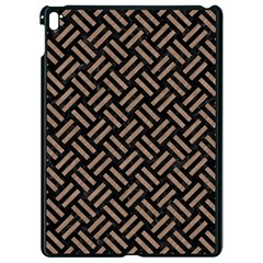 Woven2 Black Marble & Brown Colored Pencil Apple Ipad Pro 9 7   Black Seamless Case