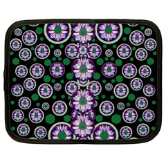 Fantasy Flower Forest  In Peacock Jungle Wood Netbook Case (xl)