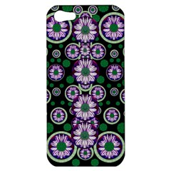 Fantasy Flower Forest  In Peacock Jungle Wood Apple Iphone 5 Hardshell Case