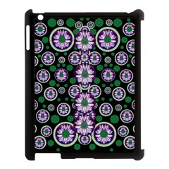 Fantasy Flower Forest  In Peacock Jungle Wood Apple Ipad 3/4 Case (black)
