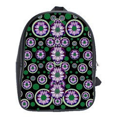 Fantasy Flower Forest  In Peacock Jungle Wood School Bags (xl)
