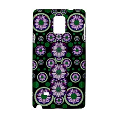 Fantasy Flower Forest  In Peacock Jungle Wood Samsung Galaxy Note 4 Hardshell Case