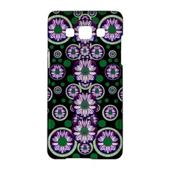 Fantasy Flower Forest  In Peacock Jungle Wood Samsung Galaxy A5 Hardshell Case
