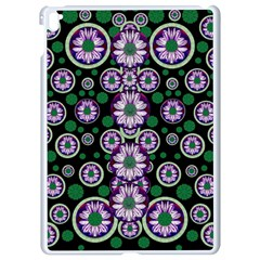Fantasy Flower Forest  In Peacock Jungle Wood Apple Ipad Pro 9 7   White Seamless Case