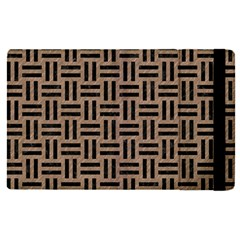 Woven1 Black Marble & Brown Colored Pencil (r) Apple Ipad Pro 9 7   Flip Case