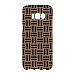 Woven1 Black Marble & Brown Colored Pencil (r) Samsung Galaxy S8 Hardshell Case