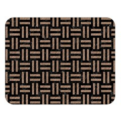 Woven1 Black Marble & Brown Colored Pencil Double Sided Flano Blanket (large)