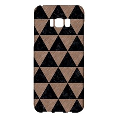 Triangle3 Black Marble & Brown Colored Pencil Samsung Galaxy S8 Plus Hardshell Case