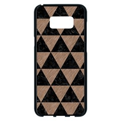 Triangle3 Black Marble & Brown Colored Pencil Samsung Galaxy S8 Plus Black Seamless Case