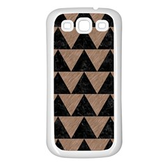 Triangle2 Black Marble & Brown Colored Pencil Samsung Galaxy S3 Back Case (white)