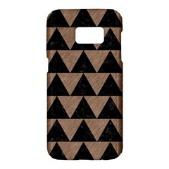 Triangle2 Black Marble & Brown Colored Pencil Samsung Galaxy S7 Hardshell Case