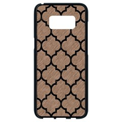 Tile1 Black Marble & Brown Colored Pencil (r) Samsung Galaxy S8 Black Seamless Case