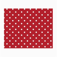 Red Polka Dots Small Glasses Cloth (2 Side)