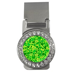 Sparkling Hearts, Green Money Clips (cz)