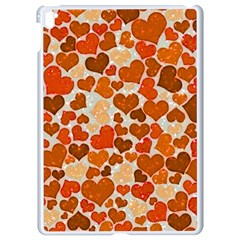 Sparkling Hearts,orange Apple Ipad Pro 9 7   White Seamless Case