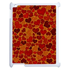 Sparkling Hearts,deep Red Apple Ipad 2 Case (white)