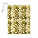 Cleopatras Gold Drawstring Pouches (Extra Large) Back