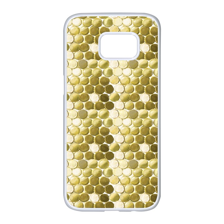 Cleopatras Gold Samsung Galaxy S7 edge White Seamless Case