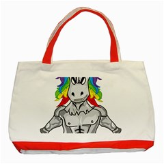Angry Unicorn Classic Tote Bag (red)