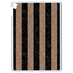 Stripes1 Black Marble & Brown Colored Pencil Apple Ipad Pro 9 7   White Seamless Case