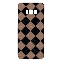 Square2 Black Marble & Brown Colored Pencil Samsung Galaxy S8 Plus Hardshell Case