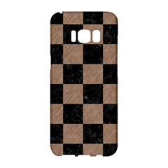 Square1 Black Marble & Brown Colored Pencil Samsung Galaxy S8 Hardshell Case