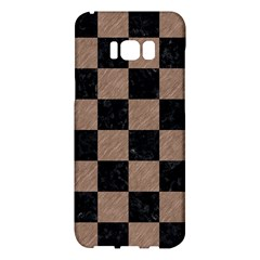 Square1 Black Marble & Brown Colored Pencil Samsung Galaxy S8 Plus Hardshell Case