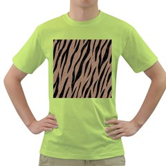 Skin3 Black Marble & Brown Colored Pencil (r) Green T Shirt