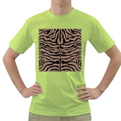 Skin2 Black Marble & Brown Colored Pencil (r) Green T Shirt