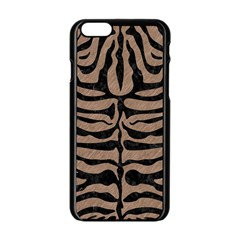 Skin2 Black Marble & Brown Colored Pencil (r) Apple Iphone 6/6s Black Enamel Case