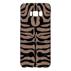 Skin2 Black Marble & Brown Colored Pencil (r) Samsung Galaxy S8 Plus Hardshell Case