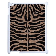 Skin2 Black Marble & Brown Colored Pencil Apple Ipad 2 Case (white)