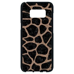 Skin1 Black Marble & Brown Colored Pencil (r) Samsung Galaxy S8 Black Seamless Case