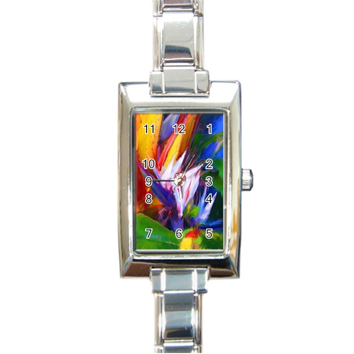 Palms02 Rectangle Italian Charm Watch