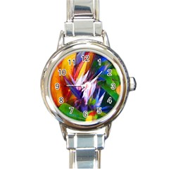 Palms02 Round Italian Charm Watch