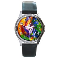 Palms02 Round Metal Watch