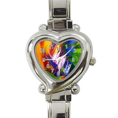 Palms02 Heart Italian Charm Watch