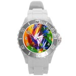 Palms02 Round Plastic Sport Watch (L) Front