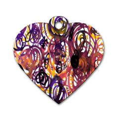 Autumnn Rainbow Dog Tag Heart (two Sides)