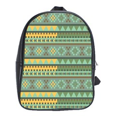 Bezold Effect Traditional Medium Dimensional Symmetrical Different Similar Shapes Triangle Green Yel School Bags(large)